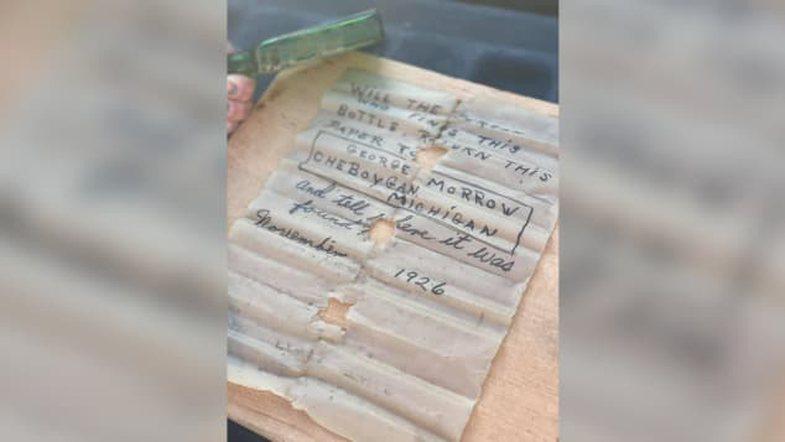 Një kapitene gjeti një mesazh 95-vjeçar në një